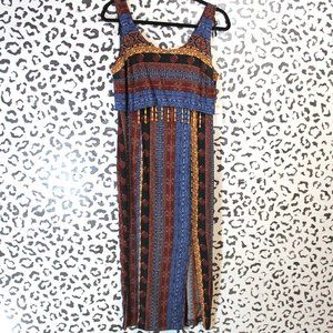 Vintage All That Jazz Boho Maxi Dress S/M Tribal
